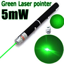 5mw 532nm 2 in 1 Green Laser Pointer Pen Beam Light Star Cap Visible Projector