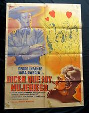 """PEDRO INFANTE """"DICEN QUE SOY MUJERIEGO"""" SARA GARCIA MEXICAN MOIVE POSTER 1947"""