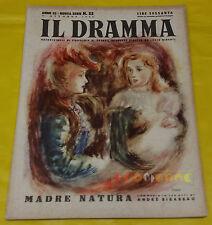 IL DRAMMA 1946 n. 22 - Copertina Renzo Regosa - Opere: vedi inserzione