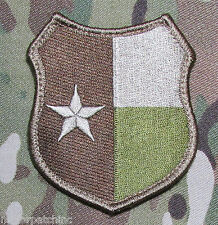 TEXAS LONE STAR STATE CRUSADER SHIELD FLAG ARMY MILITARY MULTICAM VELCRO PATCH