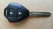NEW TOYOTA CAMRY RAV4 COROLLA PRADO YARIS 2 BUTTON REMOTE KEY FOB CASE WITH LOGO