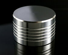Record Stabilizer, Puck, Turntable Record Weight. Machined Finish 432g