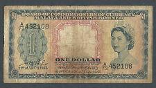1953 - Malaya - 1 Dollar Elizabeth II #BAN