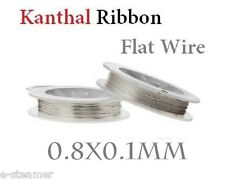 Kanthal 0.8mm X 0.1mm Flat Ribbon Heating Wire 10m  5.76 Ohms/ft Resistance