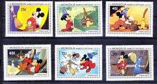 Mongolia MNH 6 Stamps, Disney, Cartoons - NM7
