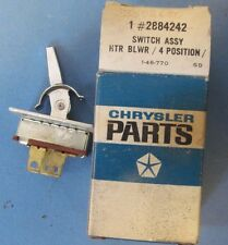 NOS Heater Switch 1969-1972 Chrysler and Imperial