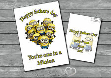Personalised One In A Minion Dispicable Me  Fathers / Daddys Day Birthday Card