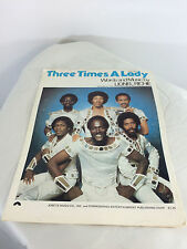 THREE TIMES A LADY-COMMODORES-LIONEL RICHIE WORDS & SHEET MUSIC-1978
