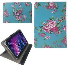 Blumen Motiv B Tablet Tasche für 10 Zoll TheQ TP41 3G Schutz Hülle