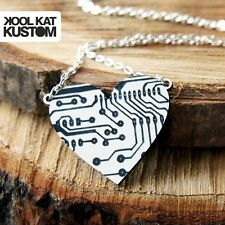 Circuits Heart Catena Collana circuiti CUORE NECKLACE Geek Nerd Gamer