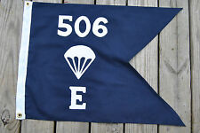 E Co 506th PIR Parachute Infantry  Band of Brothers Guidon Flag  Doublesided