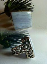 Joyas-unid anillo 925 plata calcedon grande 17 54