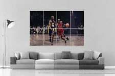 MICHAEL JORDAN DRIBBLING BASKETBALL LEGEND Poster Grand format A0 Large Print