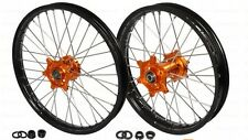 RAD RADSATZ FELGE RÄDER WHEELS KTM EXC 125 250 350 450 1,60x21 2,15x18 ORANGE