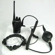 Heavy Duty Military Throat Mic Headset For WOUXUN KG-UVD1P PUXING PX888 K PX777