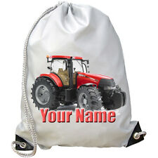 RED TRACTOR PERSONALISED GYM / PE / DANCE/ SWIMMING BAG -GREAT NAMED GIFT