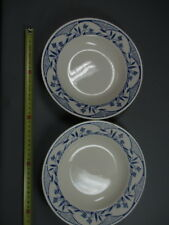Lot de 2 ancienne assiettes decor bleu brocante french antique
