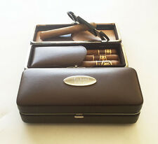 1 Personalized Engraved Custom Folding Cigar Case & Cigar Cutter Groomsmen gift