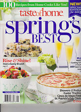 TASTE OF HOME MAGAZINE 2013, SPRING'S BEST, 100 RECIPES FROM HOME COOKS.