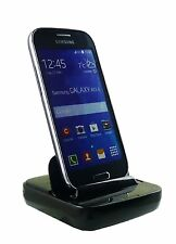 Black Smart Dock V2.0 Micro USB Docking Station Dock for Samsung Galaxy Ace 4