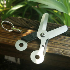 Useful Stainless Steel Outdoor Survival EDC Mini Scissor Pocket Tool Key Chain #