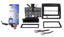 Radio Replacement Dash Kit 2-DIN w/Pocket/Harness & Steering Controls for Toyota