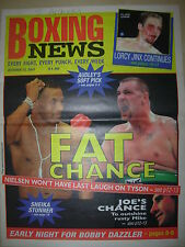 BOXING NEWS 12 OCTOBER 2001 MIKE TYSON v BRIAN NIELSEN FIGHT PREVIEW