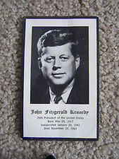 John F. Kennedy JFK Funeral Prayer Card 35th President Vintage 1963 VINAGE B&W