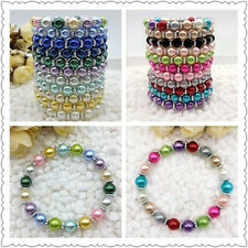NEW 22Pcs Color Fashion Jewelry 8mm 22Color water Pearl Beads Stretch Bracelet