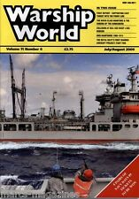 WARSHIP WORLD MAGAZINE JULY AUGUST 2009 HMS HAMPSHIRE USS WASP USS HOBSON CRASH