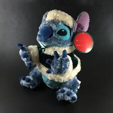 "Lilo and Stitch Plush Stuffed Animal Toy Disney Store Christmas 11"" Traditions"