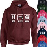 EAT, SLEEP, DRUM HOODIE ADULT/KIDS - PERSONALISED - TOP GIFT DRUMMER MUSIC