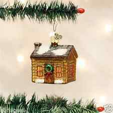 *Log Cabin* House (20015) Old World Christmas Glass Ornament - NEW