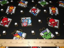 "1 yard Marvel Kawaii ""Superhero Badge""  Fabric"