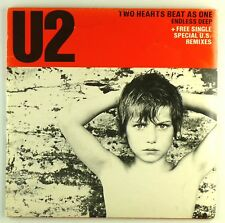"2x 7"" Single - U2 - Two Hearts Beat As One - S1531 - washed & cleaned"