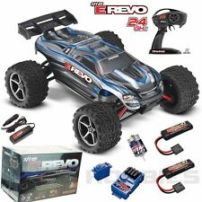 Traxxas 71054-1 E Revo 1/16 4WD Brushed Truck Silver RTR w/TQ + Extra iD Battery