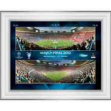 2012 Champions League Final Framed Desktop Panoramic Montage Photographic Print