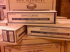 """GAUZE COTTON FILLED 2"""" x 2"""" 8 PLY CASE OF 5000 25 SLEEVES/200 NON STERILE"""