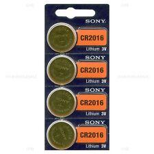 4 NEW SONY CR2016 3V Lithium Coin Battery Expire 2026 FRESHLY NEW - USA Seller