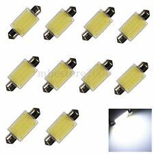 10x Bright White 41MM 12 SMD COB Festoon Dome Map LED Light Lamp Roof Bulb C5W