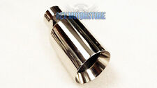 "Chrome Exhaust Tailpipe 4"" Accoustic Style Tailtrim Stainless Tip 2.25"""