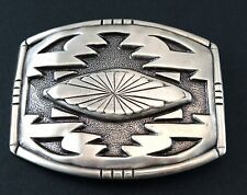 SOUTHWESTERN BELT BUCKLE SILVER PLATED TROPHY PLAQUE ENGRAVED WESTERN NEW