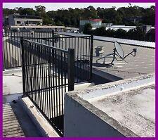 Aluminium 2400Longx1200high. Cerified Black Flat Top Pool Fencing UNBEATABLE