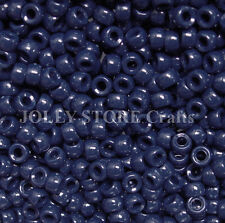 Navy 7x4mm mini Pony Beads 1000pc USA for crafts school kandi jewelry