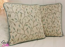 PAIR Designer Voyage Cervino Duckegg Piped Cushion Covers 40x40cm