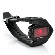 "Stealth Plane Shaped Unisex Digital LED Watch ""Black Arrow"" Changing LED Colors"