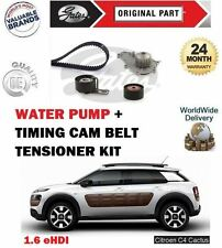 FOR CITROEN C4 CACTUS 1.6 e HDI 8v 2014--> TIMING CAM BELT KIT + WATER PUMP