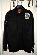 Men's-Live Mechanics-Black-Wool-Military-Jacket-Coat-3XL-XXXL-NWOT