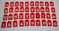 Reusable Stencil Set ~ Letters, Numbers & Signs ~ Perfect Brownie Pan 40 Pcs Set