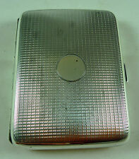 FABULOUS VINTAGE HMSS STERLING SILVER CIGARETTE/CARD CASE ADIE BROS B'HAM 1925